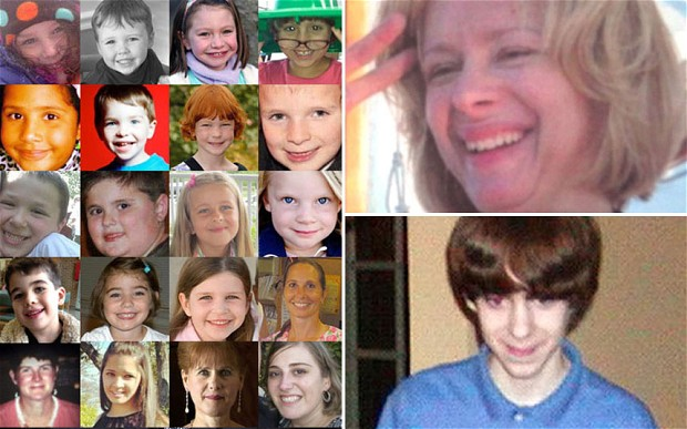 Victims of the shootings at the Sandy Hook Elementary School in Newtown, Connecticut and Nancy Lanza and her son Adam