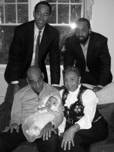 With sons Winston, Jahmel, Mom and granddaughter