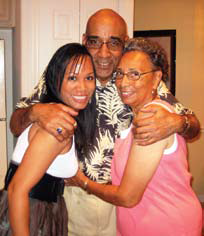 With daughter Sheryn and Mom