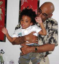 With grandson Dalen