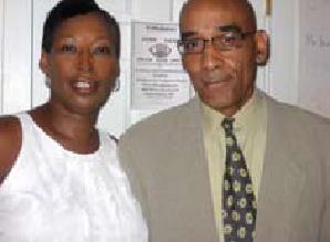 With wife Pamela